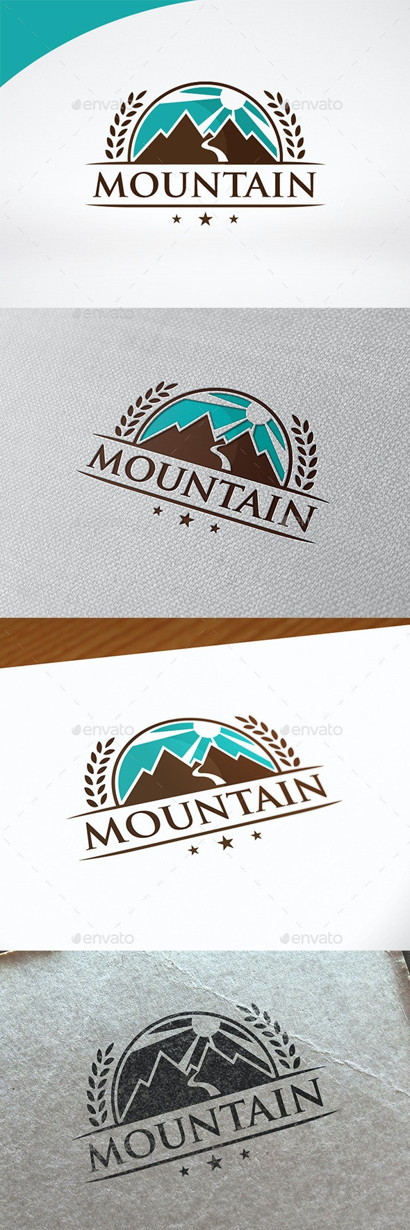 Mountain Badge Logo Template - Crests Logo Templates
