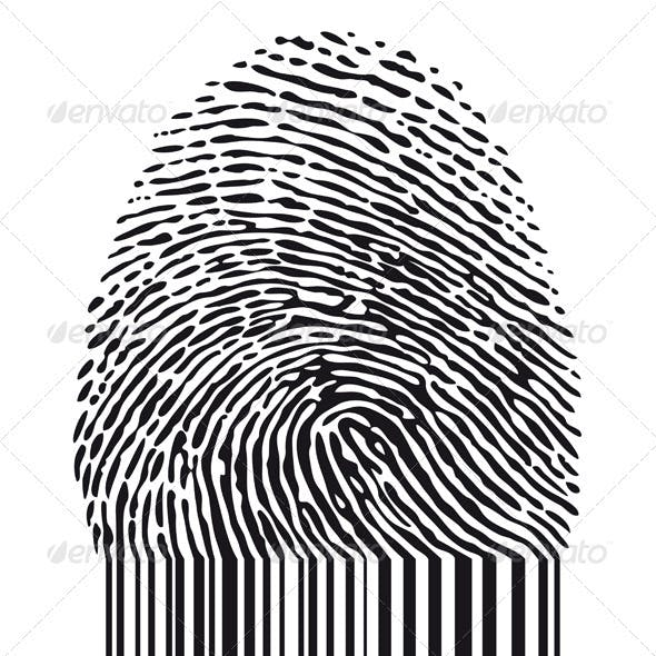 Fingerprint With Barcode