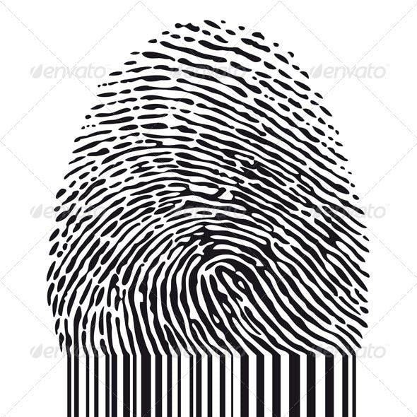 Fingerprint With Barcode