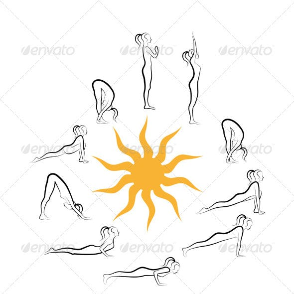 Yoga Sun Salutation Exercises