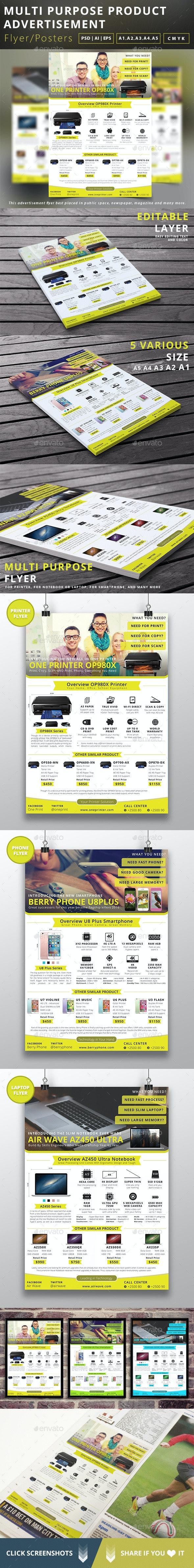 Multipurpose Product Advertisement Flyer - Commerce Flyers