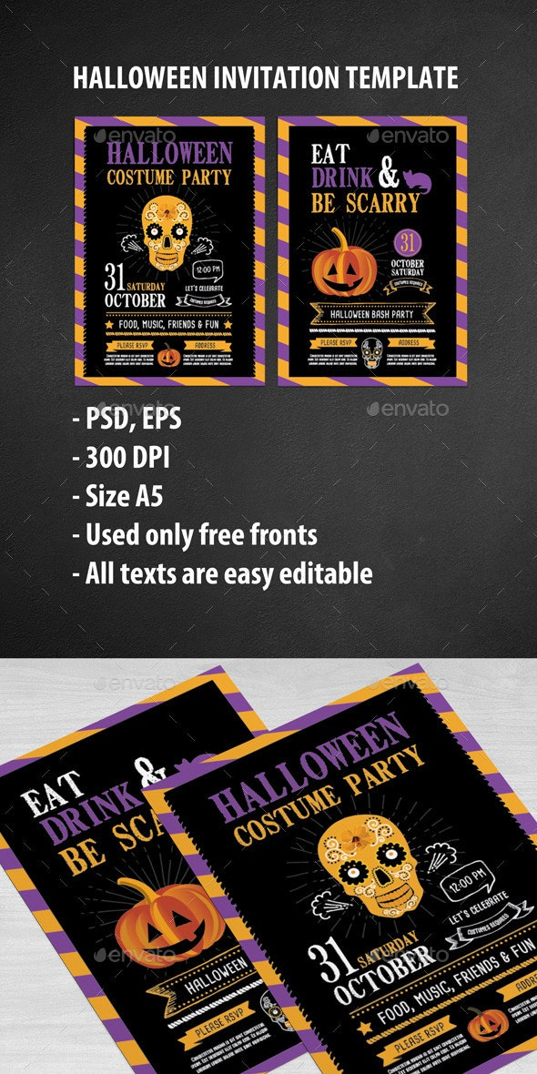Halloween Party Invitation - Clubs & Parties Events