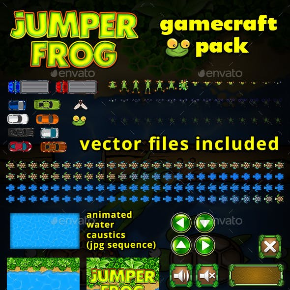 Jumper Frog Game Assets
