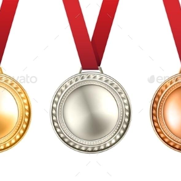 Medals Set Illustration