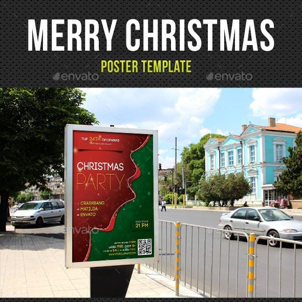 Merry Christmas Poster Template V01