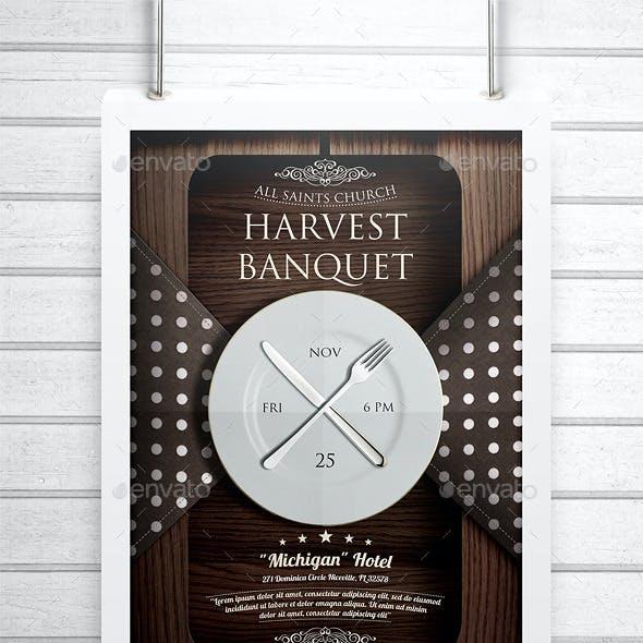 Harvest Banquet Church Flyer