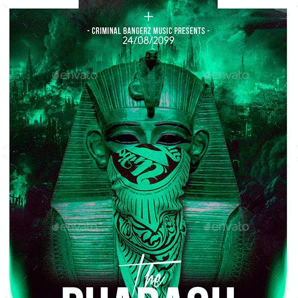The Pharaoh   Hip-Hop Modern Flyer PSD Template