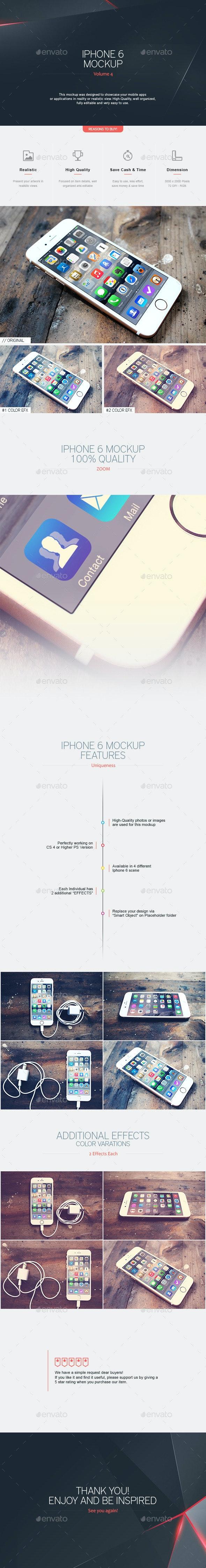 Iphone 6 Mockup V.4 - Mobile Displays