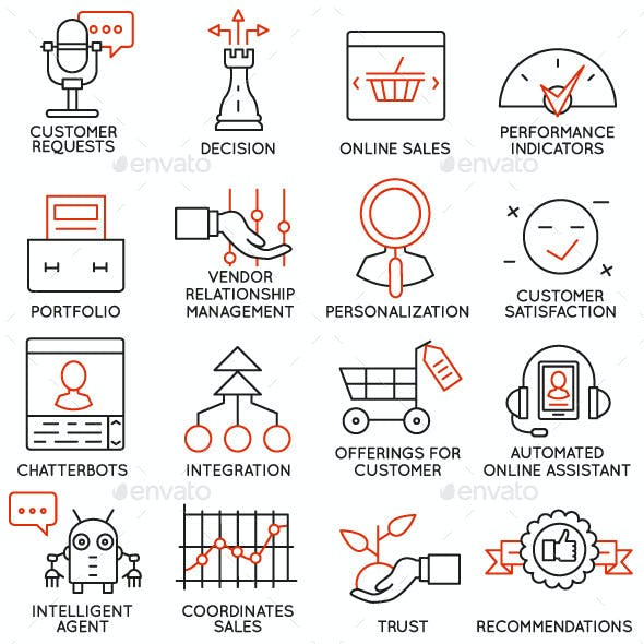 Icons Set of Business Management - part 1