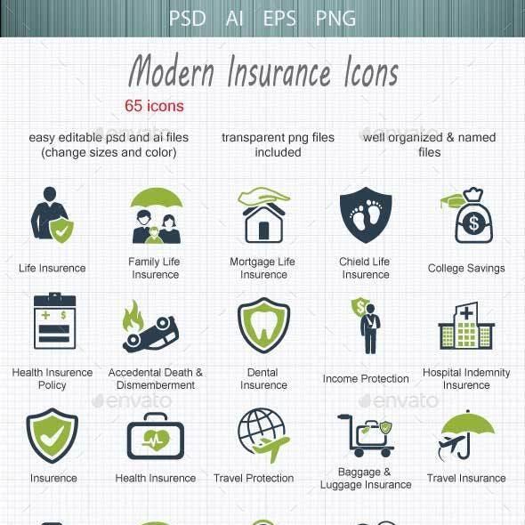 Modern  Insurance Icons