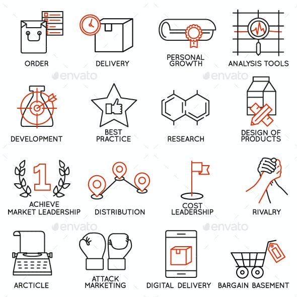 Icons Set of Business Management - part 2
