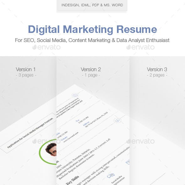 Marketer Resume