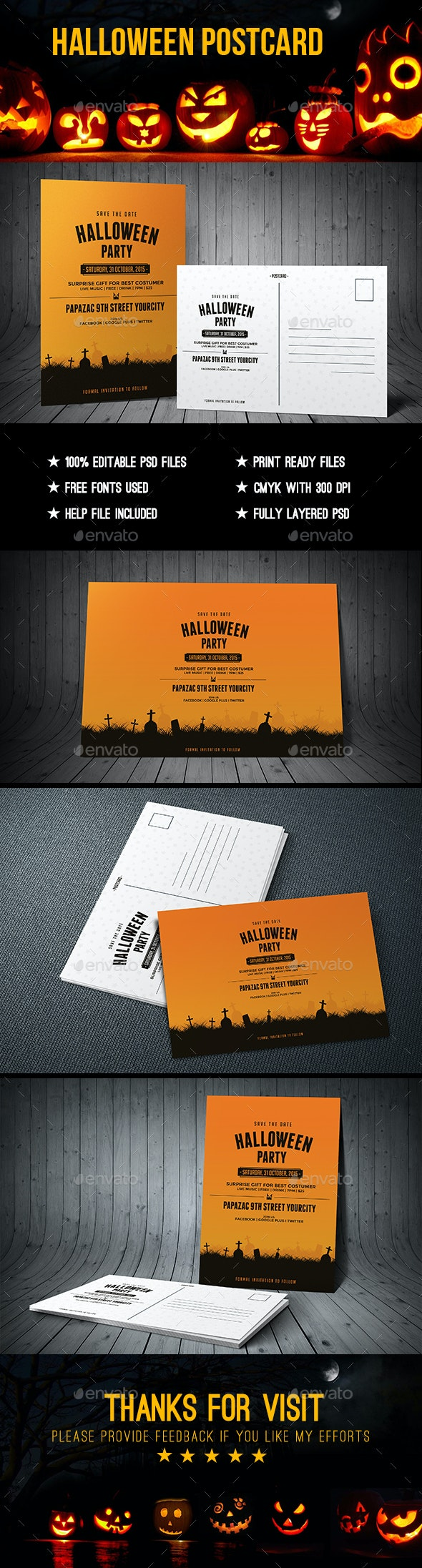 Halloween Postcard - Clubs & Parties Events