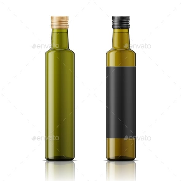 Olive Oil Bottle Template with Screw Cap