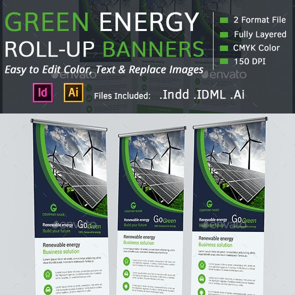 Green Energy Roll-up Banners
