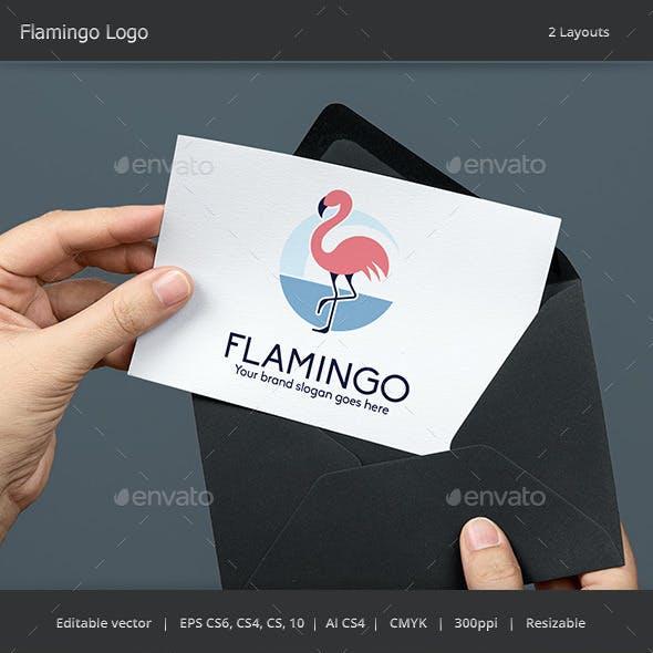 Flamingo Bird Woman Logo
