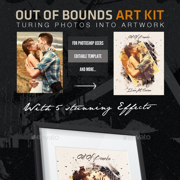 Out of Bounds Art FX - Artistic Photo Template