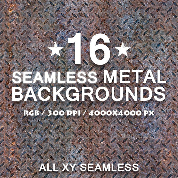 16 Seamless/Tileable rusted Metal Texture Patterns