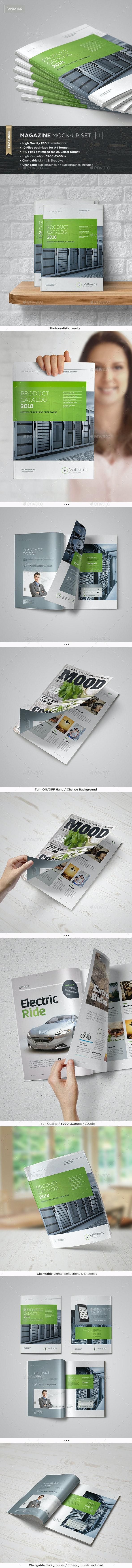 Magazine Mock-Up Set - Magazines Print