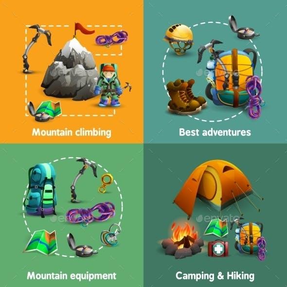 Climbing 3D Icons