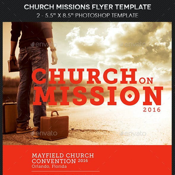 Church Missions Flyer Template