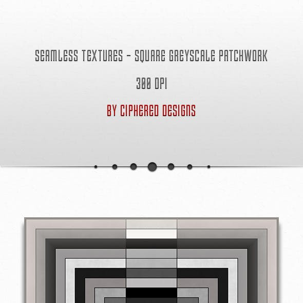 Seamless Textures - Square Greyscale Patchwork
