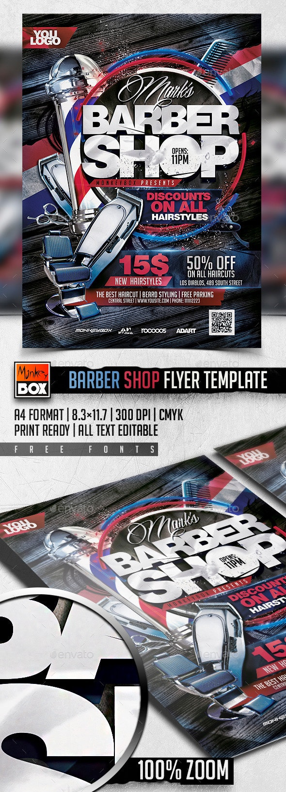 Barber Shop Flyer Template - Flyers Print Templates