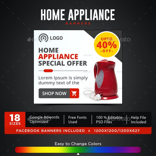 Home Appliances Banners