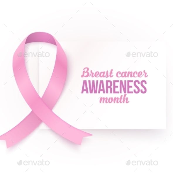 Breast Cancer Awareness Month White Card Template