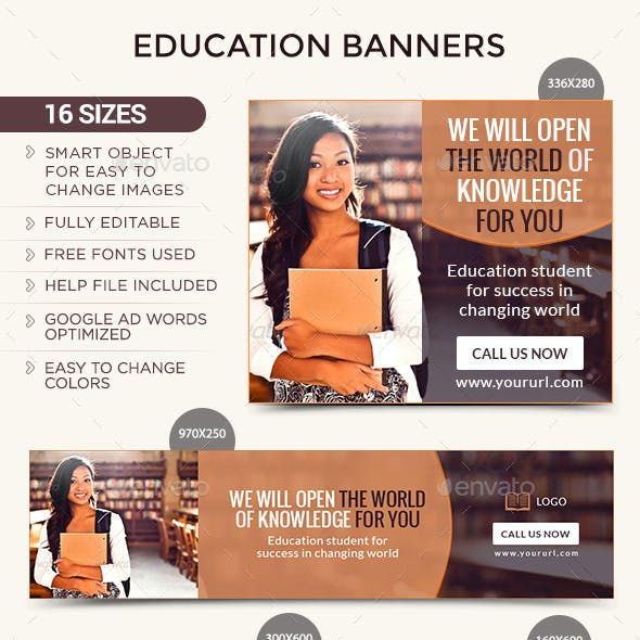 Education Center Banners