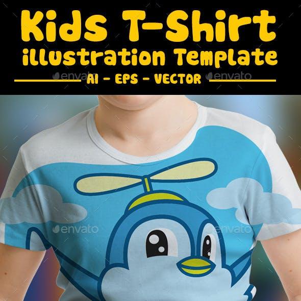 Bird Kids T-Shirt Design