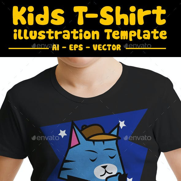 Cat Kids T-Shirt Design