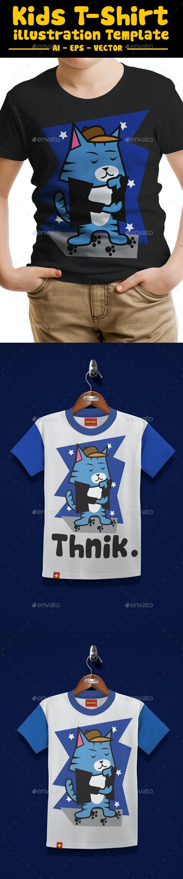 Cat Kids T-Shirt Design - Funny Designs