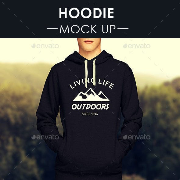 Men's Hoodie Mock Up