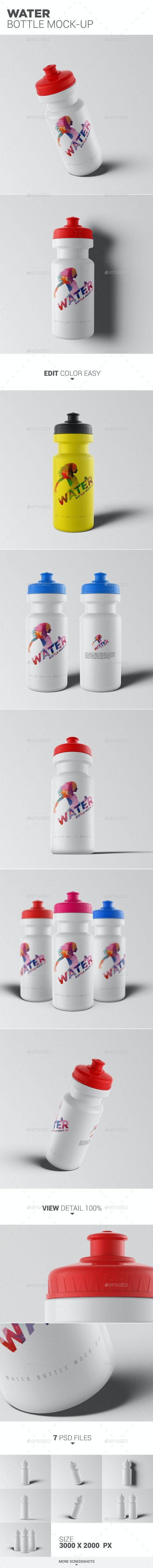 Water Bottle Mock-Up - Food and Drink Packaging