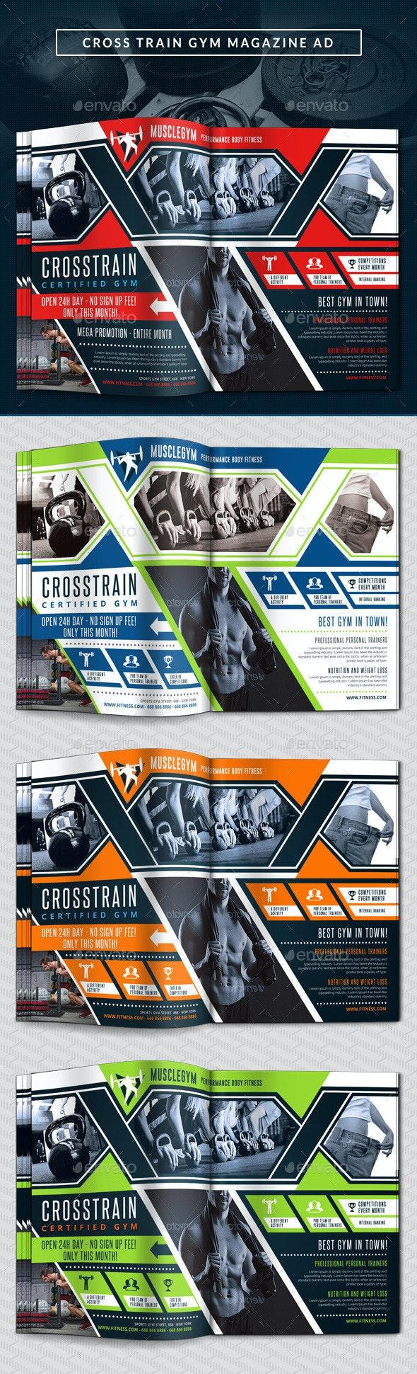 Cross Training Gym Magazine Ad - Magazines Print Templates