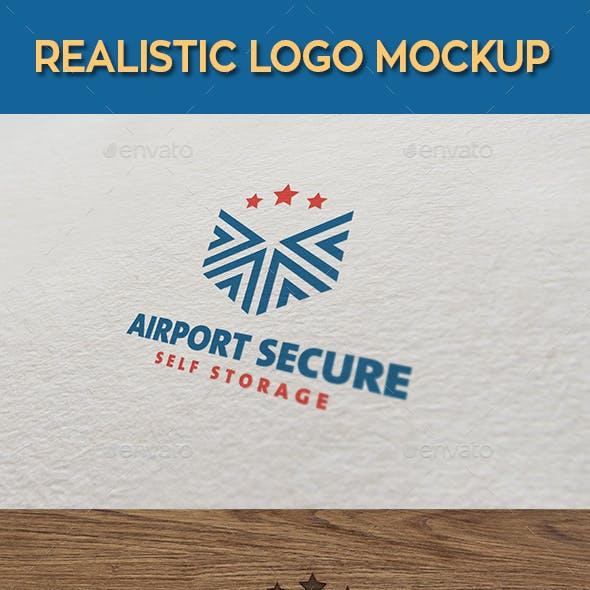 Realistic Logo Mock-Up
