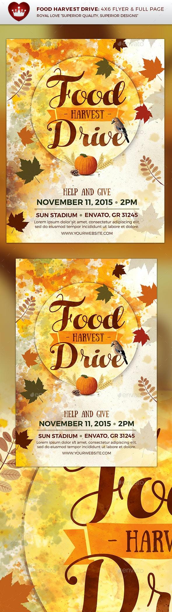 Food Harvest Drive Flyer - Flyers Print Templates