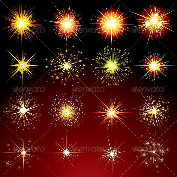 Sparks and Fireworks - Characters Vectors