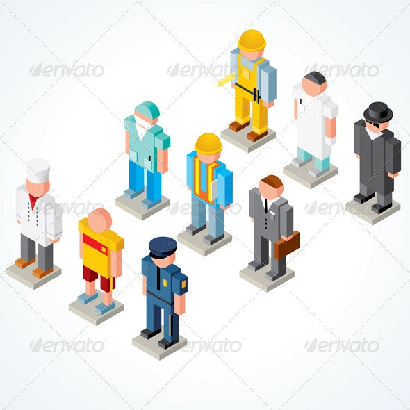 Isometric Peoples - Characters Vectors