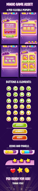 Magic GUI Asset - User Interfaces Game Assets