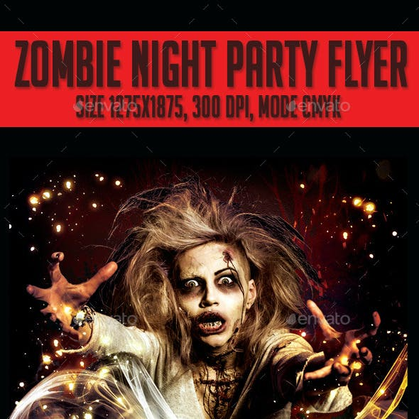 Zombie Night  Party Flyer