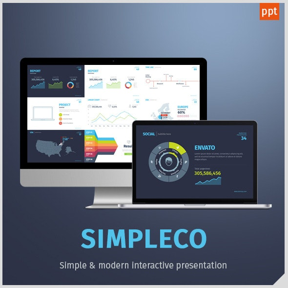 Simpleco: Minimalistic Business Powerpoint Template - Business PowerPoint Templates