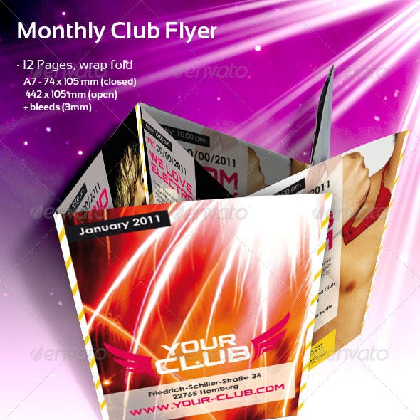 Monthly Club Flyer
