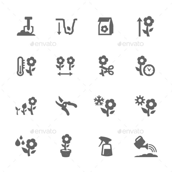 Flowers Growing Icons