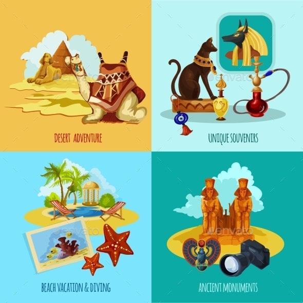 Egypt Touristic Set - Travel Conceptual
