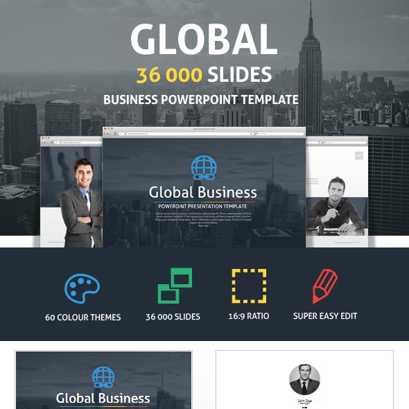 Global Business Powerpoint Presentation Template