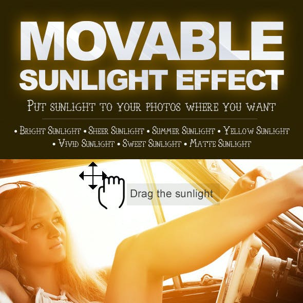 Movable Sunlight Effects Photoshop Actions