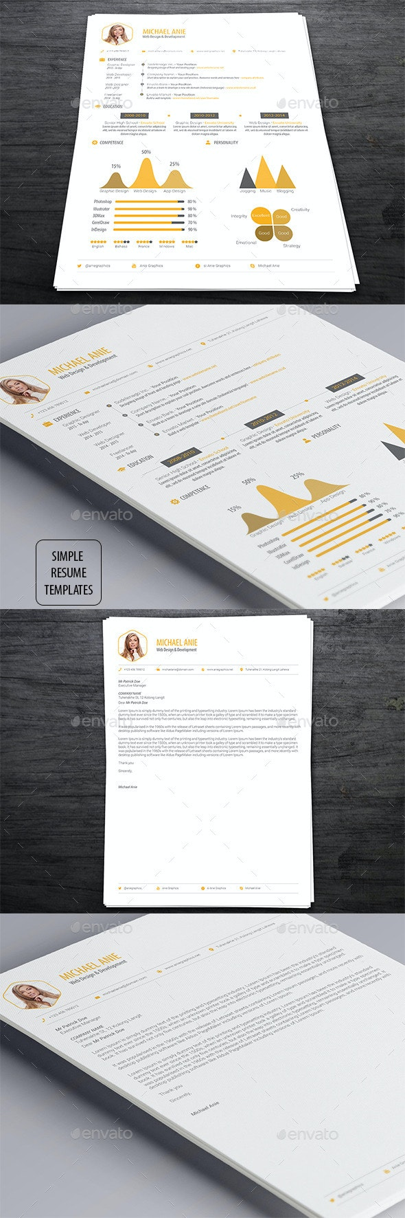 Simple Resume Templates - Resumes Stationery
