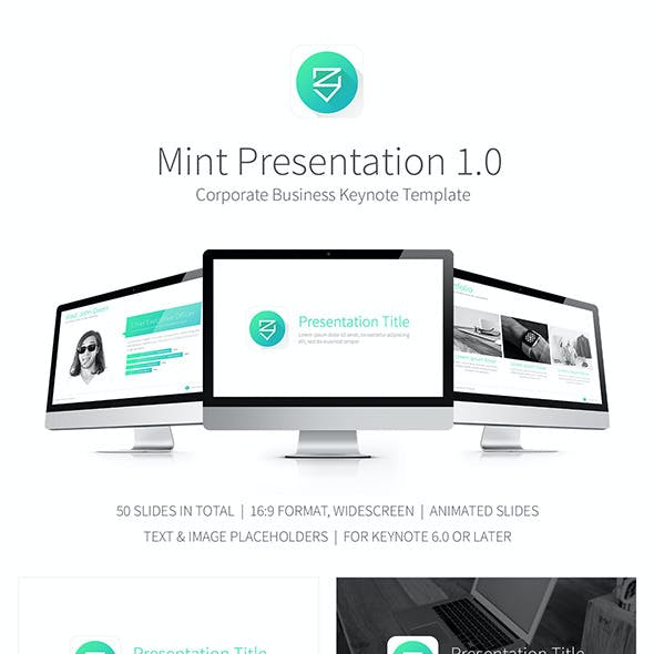 Mint Presentation Keynote Template
